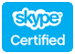 Certified for use with Skype