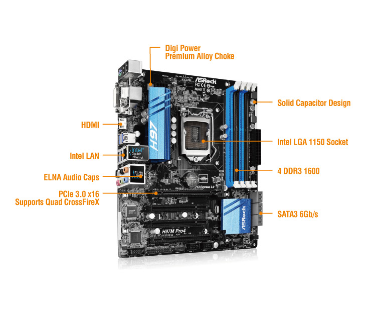 ASRock H87M Pro4 Intel Rapid Start New