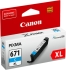 Canon CLI-671XLC #671XL Extra Large Ink Cartridge - Cyan Compatible With MG7760 & MG5760 Printers