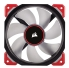 Corsair ML120 Pro LED 120mm Premium Magnetic Levitation Fan - Red 120mm x 25mm, Static Pressure, PWM, 12 - 75 CFM, 16 - 37 dBA, 400 - 2400 RPM, 4-Pin