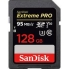SanDisk 128GB Extreme PRO SDXC Card - UHS-I U3, V30, Class 10, 95MB/s Read, 90MB/s Write