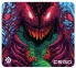 SteelSeries QcK+ CS:GO Hyper Beast Edition Mousepad - Large High Performance Grade Cloth Surface, Non-Slip Rubber Base, Exclusive HyperBeast Design 450x400x2mm