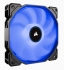 Corsair Air Series AF140 LED (2018) Blue 140mm Fan Single Pack - 140mmx25mm, Hydraulic Bearing, 1150RPM, 62CFM, 26dBA