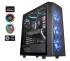 "ThermalTake Versa J24 Tempered Glass RGB Edition Mid-Tower Chassis - No PSU, Black  2.5"" Bay(2), 3.5"" Bay(3)/2.5"" Bay(3), USB3.0(2), HD-Audio, 120mm Fan, Tempered Glass, ATX"